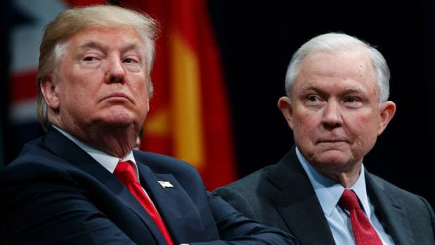 Trump says Sessions safe in job at least until November elections