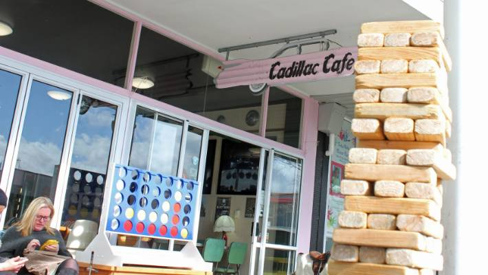 Turangi's Cadilac Cafe offers games and toys.