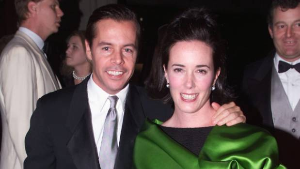 Andy Spade seen here with Kate Spade in 2000 has spoken out about his wife's death