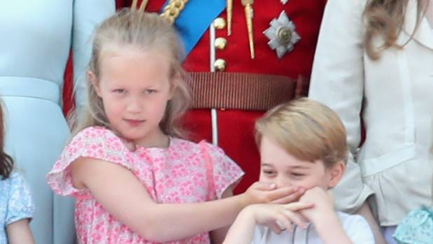 Prince George, Princess Charlotte and Savannah Phillips at Beaufort Polo Club