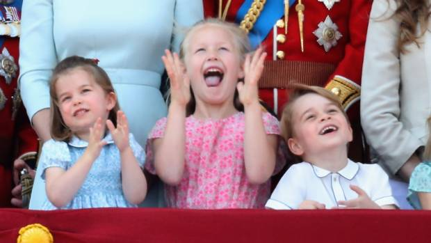 Kate Middleton takes George and Charlotte to watch William in polo match