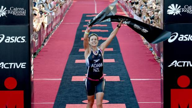 In just her second ironman, Auckland's Teresa Adam won the women's Asia-Pacific title in Cairns.