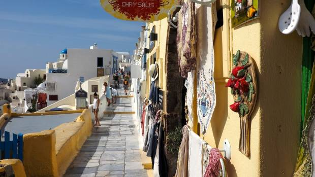 It's easy to spend a lot of time, and money, in Santorini's gift shops.