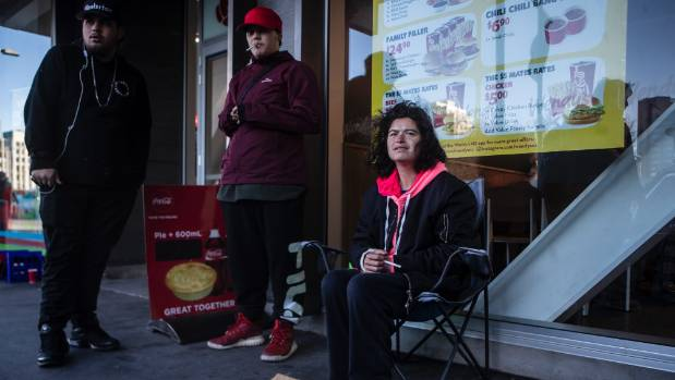 Angelica Seamer, who begs on Christchurch's Hereford St, says she's had people abuse her and throw rocks and bottles.