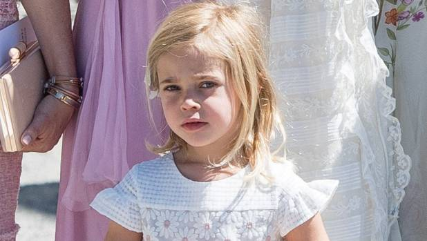Sweden's Princess Leonore gets bored at sister's christening, rolls in the aisle