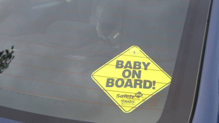 Baby On Board Cool Baby With Sunglasses Car Sticker Car Window Signs & Decals Baby Safety & Health
