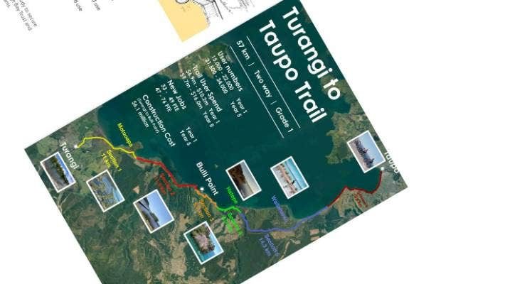 Taupo District Council proposes building a cycle/walking trail from Turangi to Taupo.