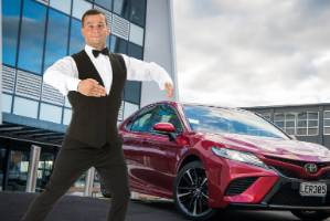 David Seymour and the surprisingly likeable, slightly clumsy Toyota Camry V6.