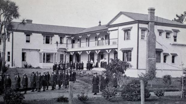 The school at Calico Line, Marton.