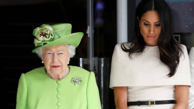 Markle and Queen enjoy first official engagement together