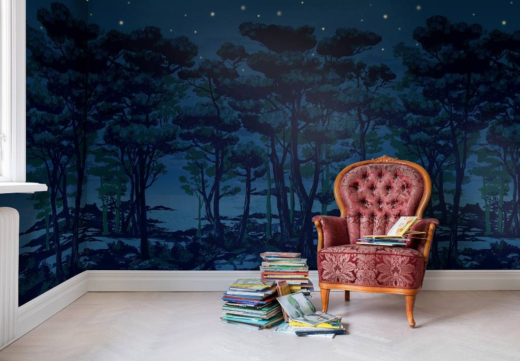 A Wintery Option That Could Suit Adult Spaces Or Kids Rooms The Enchanted Forets