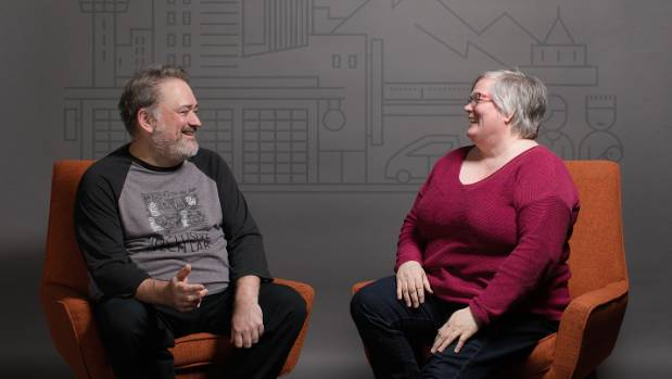 Senior designer Bryce Johnson, left, and accessibility manager Evelyn Thomas in Xbox's Inclusive Tech Lab