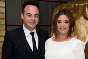 TV personality Ant McPartlin and his wife Lisa Armstrong in 2015. The couple split in January after 11 years together.