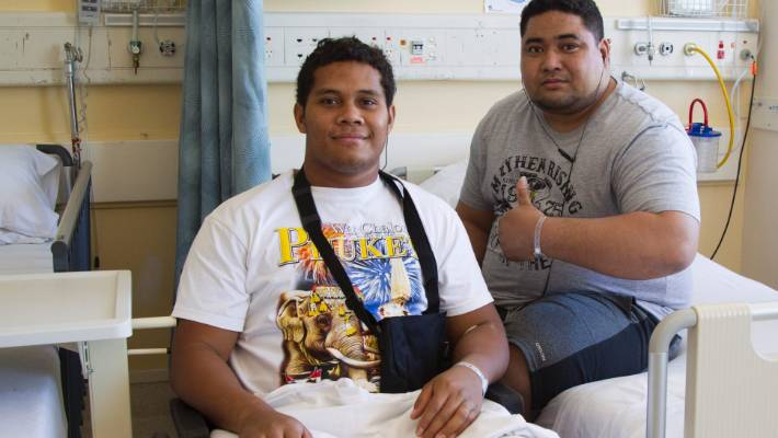 One of the worst bus crashes in recent years left three dead and 27 injured when a coach went over a bank near Gisborne in late 2016. Tevita Lokotui (left), who had his lower leg amputated, and Scott Taufa'ao were among survivors. The driver was sentenced to home detention and ordered to pay $36,000 in reparation.