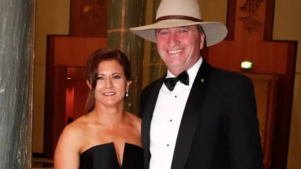 Barnaby Joyce with his estranged wife Natalie. The pair have now separated.
