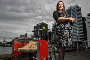 Minister for Women Julie Anne Genter plans to take her baby for trips around town in her baby buggy.