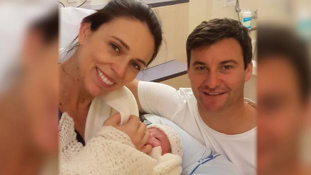 PM Jacinda Ardern leaves hospital with 'Neve Te Aroha'