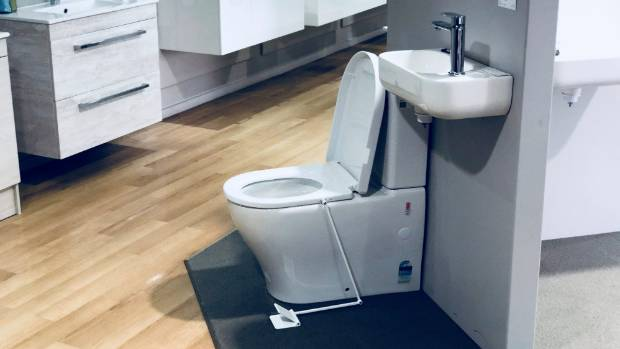 kiwi family 39 s foot pedal operated toilet seat lifter could revolutionise loos. Black Bedroom Furniture Sets. Home Design Ideas