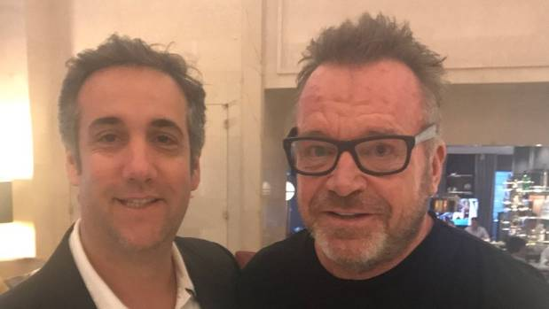 Michael Cohen, Tom Arnold photo fuels Trump tape speculation