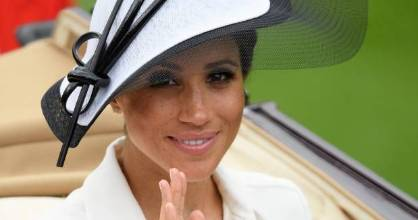 Meghan, the new Duchess of Sussex, visited Britain's Royal Ascot races for the first time on Tuesday.