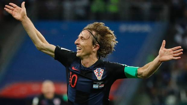 Croatia's Luka Modric hopes to have far more to celebrate during this World Cup campaign.