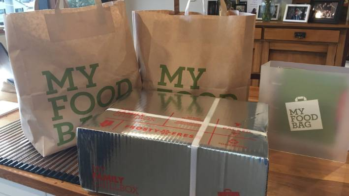 For some, the delivery of a meal-kit is like Christmas presents every week.