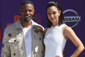 Jamie Foxx, left, and his daughter Corinne Foxx at the BET Awards. The presenter has already made a big song and dance ...