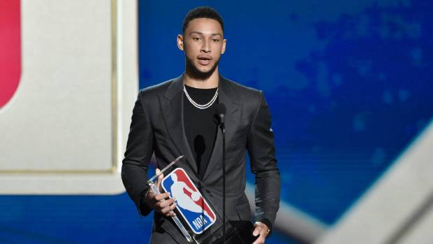 Australian guard Ben Simmons has been named Rookie of the Year