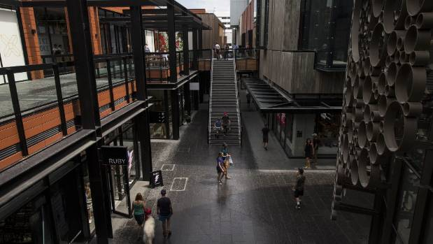 The Crossing, in central Christchurch, has many major retailers but needs more shoppers.