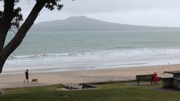 James Anthony Nolan is charged with assaulting a woman using a car as a weapon at Takapuna beach.