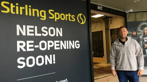 No stranger to sportswear, Crusader and Tasman Mako Wyatt Crockett is taking on the revamped Stirling Sports store on Trafalgar St.