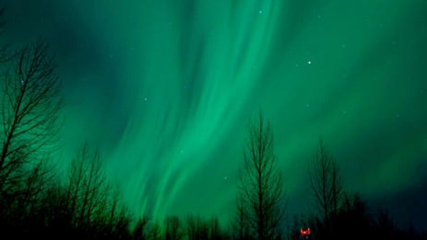 Aurora borealis near Talkeetna, Alaska.