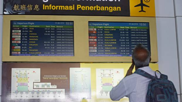 Bali Airport Reopens After Ash Threat From Volcano