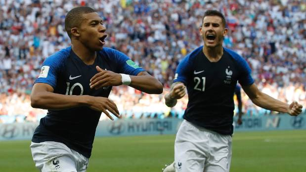 France's Kylian Mbappe has started to fire at the World Cup