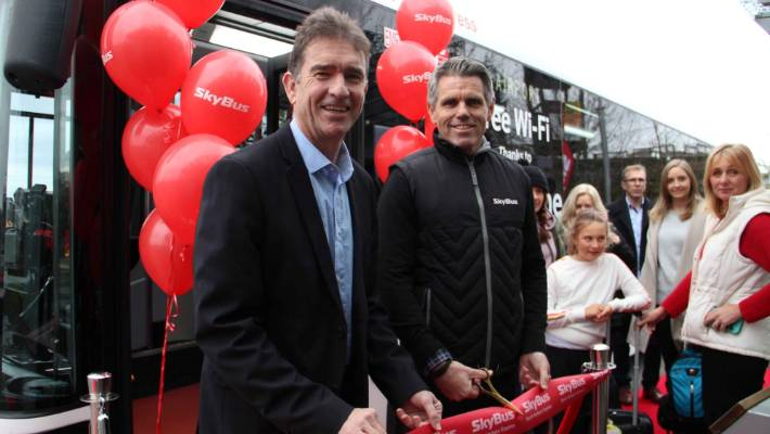 SkyBus airport services launch on Auckland's North Shore