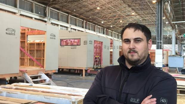 Matrix account manager Marcus Bokkerink says while the cost of materials for a prefabricated house is roughly the same as an on-site build, labour costs are lower because of the faster build times.