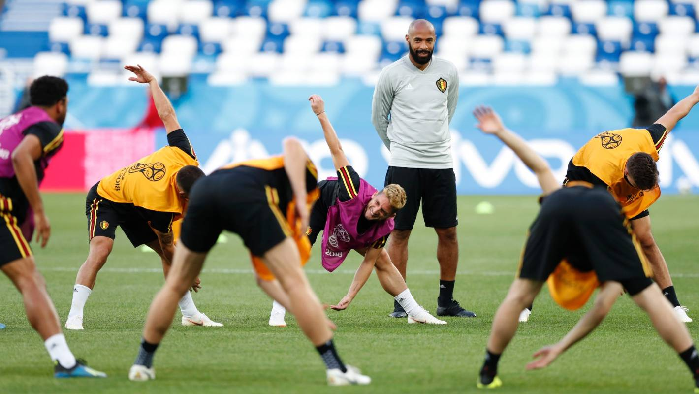 Fifa World Cup Winner Thierry Henry Spotted Training