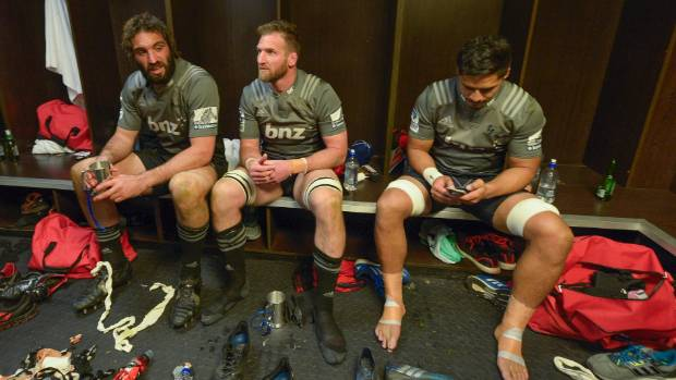 Kieran Read, centre, hasn't worn a Crusaders jersey since the team beat the Lions 25-17 in the Super Rugby final in ...
