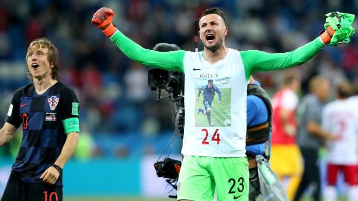 Croatia goalkeeping hero Danijel Subasic honours dead friend