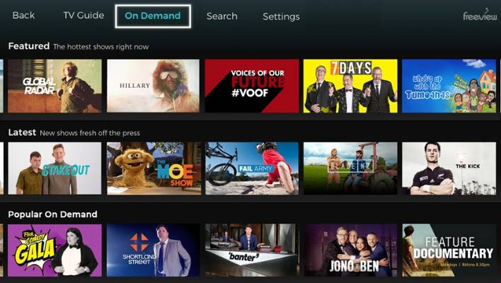 Freeview launches new On Demand TV platform | Stuff co nz