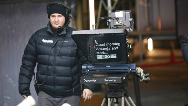 The AM Show staff needed to rug up warm for their three-day stint in Queenstown.