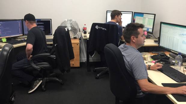 In the trading room at Cryptopia