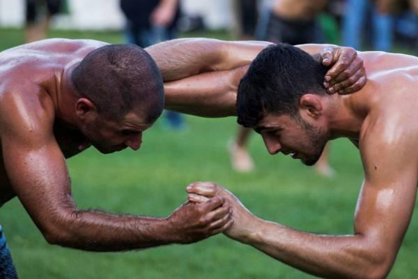 Oil wrestling practiced with devotion in Greece   Stuff co nz