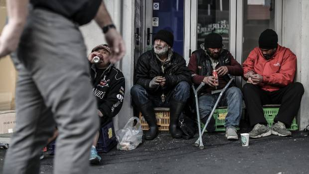 Mark Phillip, Sole Johnstone, Kenny Dahl and a rough sleeping friend spend their mornings on Victoria St, in downtown ...