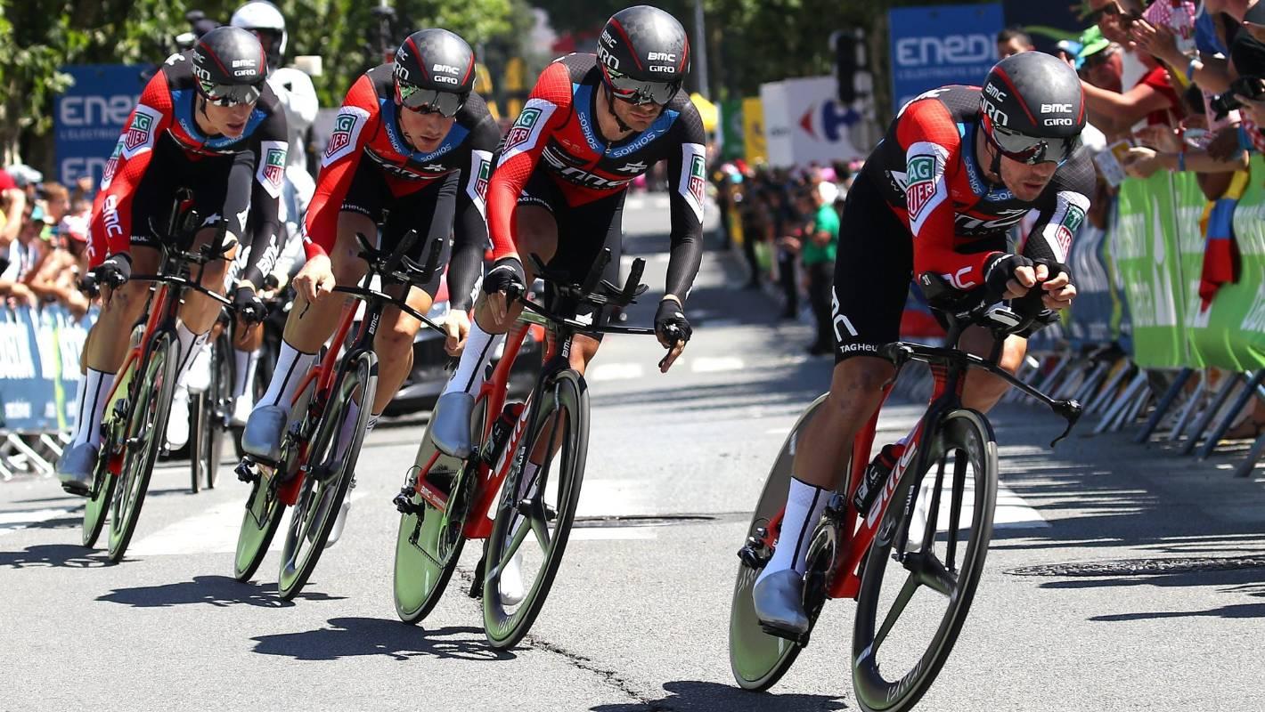 Patrick Bevin celebrates Tour de France stage win as BMC Racing triumphs in TTT