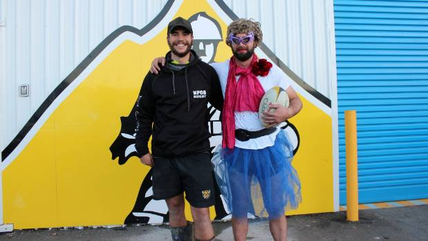 New Plymouth Old Boys' rugby player Matthew Guthrie won his game on Saturday, along with a bet he had with workmate Zane ...