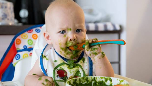 Weaning babies sooner onto solids can aid sleep, study suggests