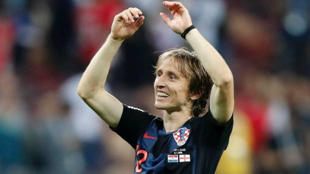 Modric wins Golden Ball as World Cup's player of the tournament