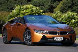 BMW i8 roadster demands attention. especially in this E-Copper finish.