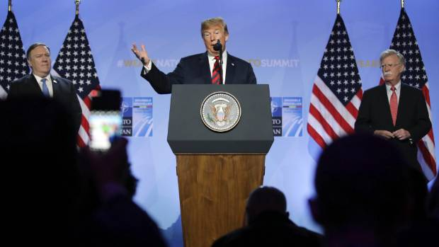 Trump Claims Victory at NATO Summit, Boasts of U.S. Weapons Sales